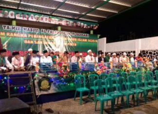 Peringati Bulan Muharram, Masjid Al-Falah Gelar Sholawat dan Santunan Anak Yatim Rutin se-Kecamatan Tirtoyudo